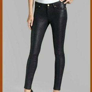 NWT JEN7 Faux vegan black leather pants size 6